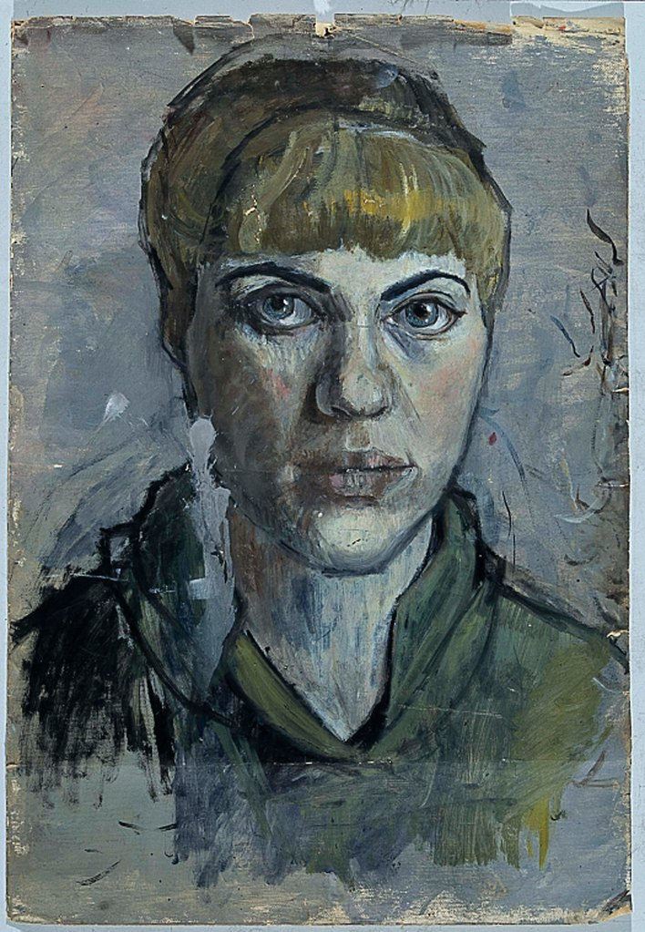 Untitled [self portrait of Pauline Boty], c. 1955