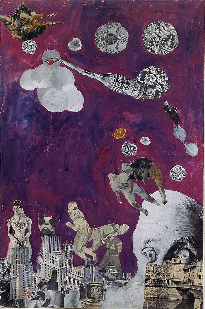 UNTITLED [CINZANO] by Pauline Boty. Collage, c. 1960/61